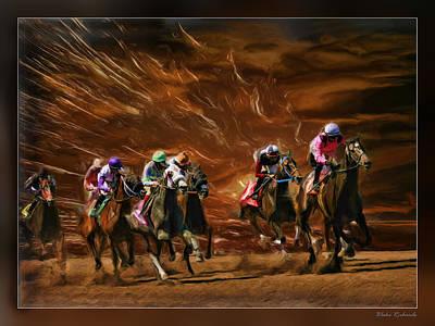 The Great Horse Race Art Print
