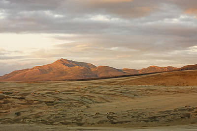 Land Of The Midnight Sun Photograph - The Great Kobuk Sand Dunes Under An by Doug Demarest