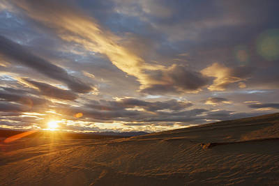 Land Of The Midnight Sun Photograph - The Great Kobuk Sand Dunes With The by Doug Demarest