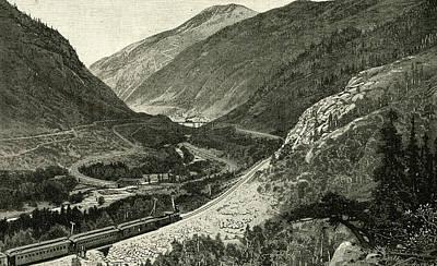 Georgetown Drawing - The Great Loop At Georgetown 1891 Usa by American School