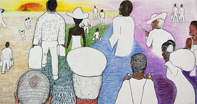 Racism Drawing - The Great Migration by Jeremy Phelps