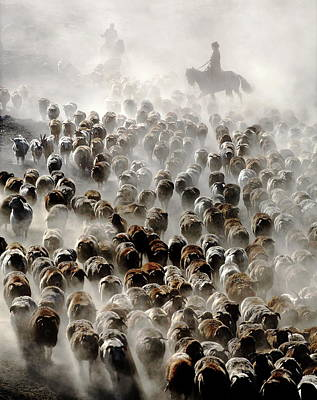 Riding Wall Art - Photograph - The Great Migration Of China by Adam Wong