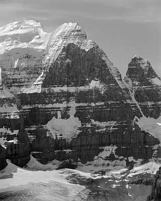 Photograph - 1m3752-bw-the Great North Face Of North Twin by Ed  Cooper Photography