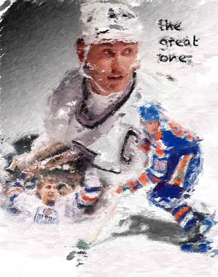 Gretzky Photograph - The Great One by Brian Menasco