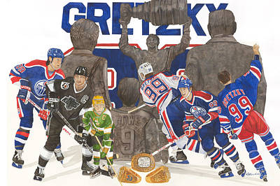 Stanley Cup Painting - The Great One by Ronald Wilkie