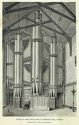 Primroses Drawing - The Great Organ At Primrose  Hill by Mary Evans Picture Library
