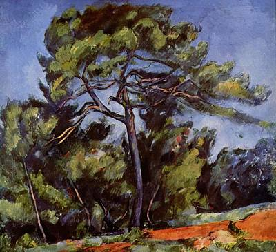 Painting - The Great Pine by Paul Cezanne