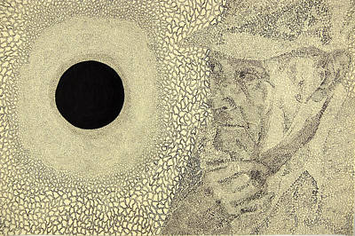 Contemplative Drawing - The Great Ponder by Amy Mackenzie
