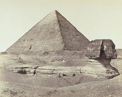 The Great Pyramid And The Sphinx Francis Frith Art Print by Litz Collection