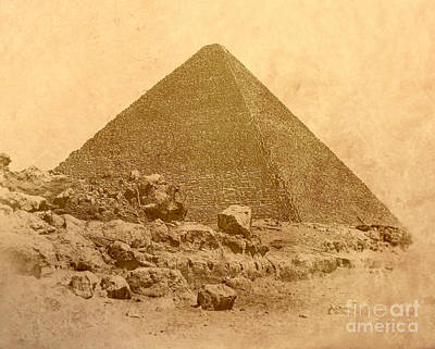 Art Print featuring the photograph The Great Pyramid by Nigel Fletcher-Jones