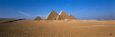 The Plateaus Photograph - The Great Pyramids Giza Egypt by Panoramic Images