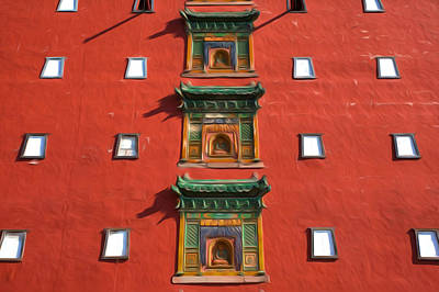 Tibetan Buddhism Painting - The Great Red Terrace Of Putuo Zongcheng Temple by Lanjee Chee