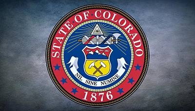 Elm Digital Art - The Great Seal Of The State Of Colorado by Movie Poster Prints