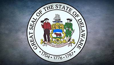 Ears Of Corn Photograph - The Great Seal Of The State Of Delaware by Movie Poster Prints