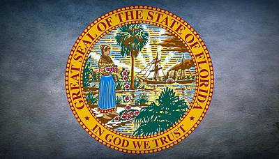 The Great Seal Of The State Of Florida Art Print
