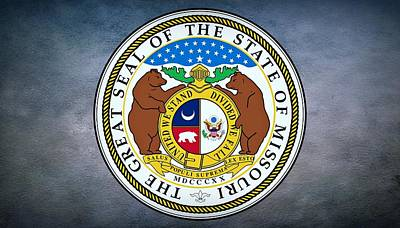 The Great Seal Of The State Of Missouri  Art Print