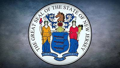 Cornucopia Digital Art - The Great Seal Of The State Of New Jersey by Movie Poster Prints