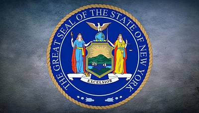 Scale Digital Art - The Great Seal Of The State Of New York by Movie Poster Prints