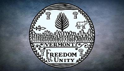 The Great Seal Of The State Of Vermont Art Print