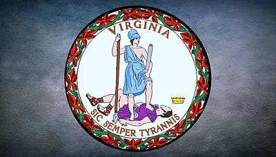 The Great Seal Of The State Of Virginia  Art Print