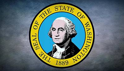 Charles Digital Art - The Great Seal Of The State Of Washington by Movie Poster Prints