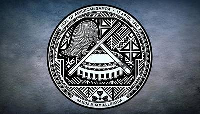 Staff Digital Art - The Great Seal Of The Territory Of American Samoa by Movie Poster Prints