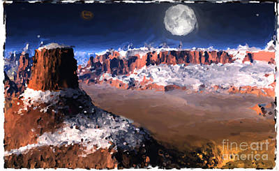 Great Mixed Media - The Great Southwest Digital Painting. by Heinz G Mielke