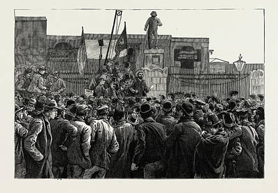 Dock Drawing - The Great Strike Of Dock Labourers At The East End by Litz Collection