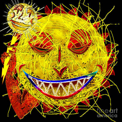 Jester Digital Art - The Great Sun Jester by Neil Finnemore