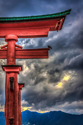 Floating Torii Photograph - The Great Torii by Gary Fossaceca