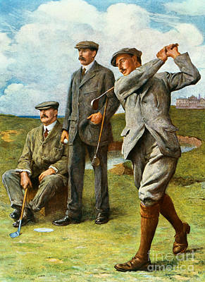 Caddy Painting - The Great Triumvirate by Clement Flower
