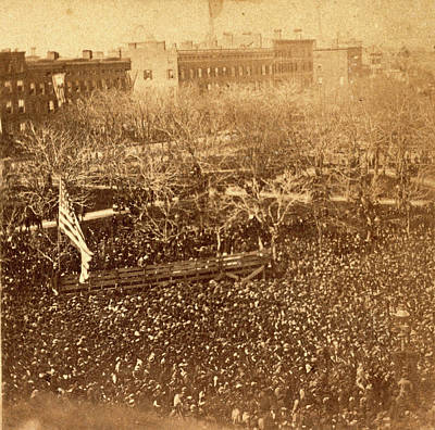 The Great Union Meeting In Union Square, New York Print by Litz Collection