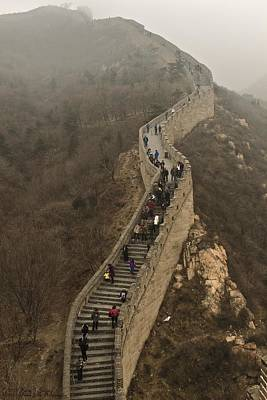 Photograph - The Great Wall Of China At Badaling - 3 by Hany J