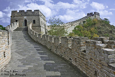 The Great Wall Of China At Mutianyu 1 Art Print