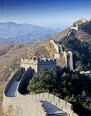 Watch Tower Photograph - The Great Wall Of China by Brendan Reals