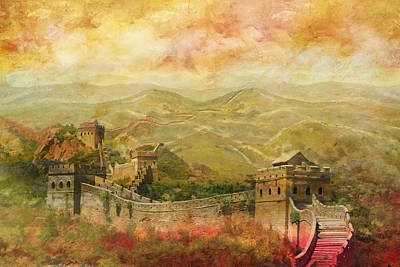 Beijing  - The Great Wall Of China by Catf