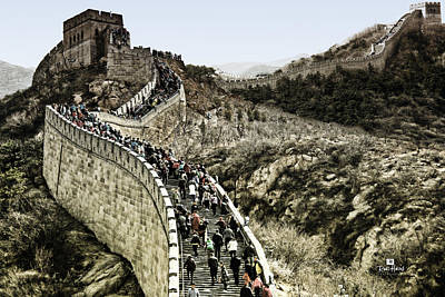 Mountains Photograph - The Great Wall Of China by Russ Harris