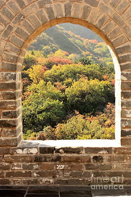 Photograph - The Great Wall Window by Carol Groenen