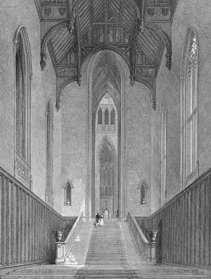 Staircase Drawing - The Great Western Hall Leading by George Cattermole