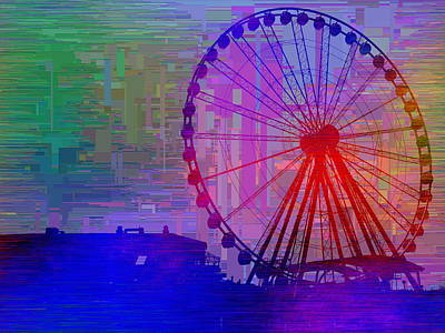 The Great  Wheel Cubed Print by Tim Allen