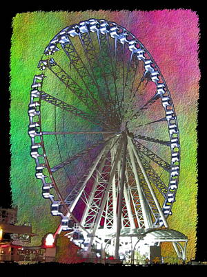Digital Art - The Great Wheel by Tim Allen