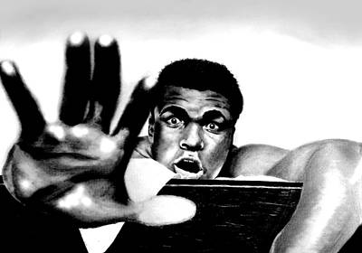 Igers Drawing - The Greatest Muhammad Ali by Mike Sarda