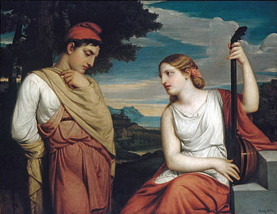 Painting - The Greek Lovers by Henry Peters Gray