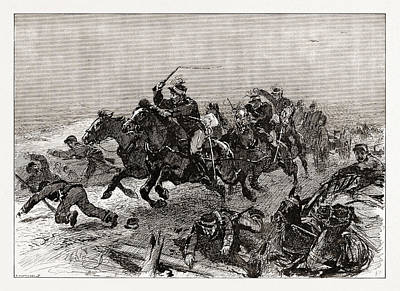 Pole Drawing - The Greek Rout An Incident Of The Stampede On The Road by Litz Collection