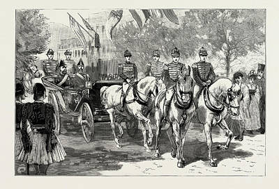 Royal Wedding Drawing - The Greek Royal Wedding, Arrival Of The Royal Party by Litz Collection