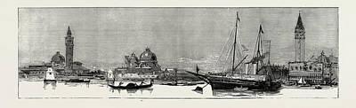 Royal Wedding Drawing - The Greek Royal Wedding At Athens The Royal Yacht Osborne by Litz Collection