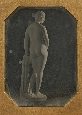 Slaves Drawing - The Greek Slave, By Hiram Powers Attributed To Southworth & by Litz Collection