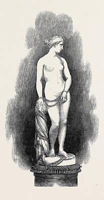 Slaves Drawing - The Greek Slave by Powers, Hiram (1805-1873), American