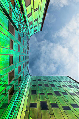 Holland Wall Art - Photograph - The Green Building by Leon