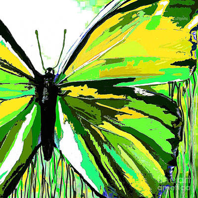 Painting - The Green Butterfly by Saundra Myles